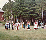 Midsummer celebration at Old World Wisconsin in the early 1980s. Photographer unknown.