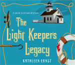 Audiobook CD case front image for The Light Keeper's Legacy, the third Chloe Ellefson mystery by bestselling author Kathleen Ernst.
