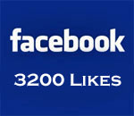 Graphic stating Facebook 3200 Likes.