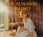 Partial image of the front cover of the American Girl book The Runaway Friend: A Kirsten Mystery written by bestselling author Kathleen Ernst.