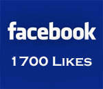 Facebook 1700 Likes graphic.