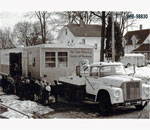 Black & White photo of Wisconsin State Historical Society Historymobile.