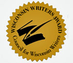 Image of Councii for Wisconsin Writers award seal.