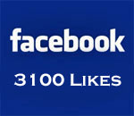 Graphic showing 3,100 Facebook Likes