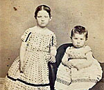 CDV photograph of two small girls of Hagerstown, Maryland, taken circa early to mid 1860's.