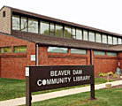 Photo of the Beaver Dam Wisconsin Community Library, Town Square Publications.
