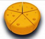 Cheese Wedge logo of the ReadVillage.com book review website.