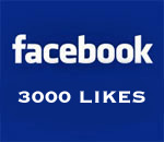 Graphic stating Facebook 3000 Likes.