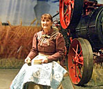 Photo of Bonanza Farm interpreter at Mill City Museum, Minneapolis, MN.