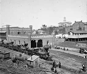 Railroad Yards - Nashville Tennessee - 1864