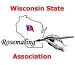 Logo of the Wisconsin State Rosemaling Association.
