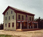 Photo of the Four Mile Inn at Old World Wisconsin in 1980.