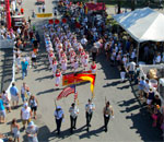 Overhead photo of opening parade of GermanFest, Milwaukee, Wisconsin, July 25, 2015.