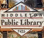 Photo of the Middleton, Wisconsin, Public Library sign.