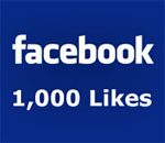 Graphic celebrating achievement of 1,000 Likes on Facebook Author page of Kathleen Ernst.