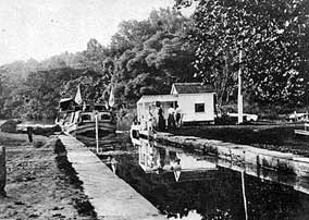 C & O Canal Lock and Canalboat