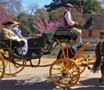 Image of a horse-drawn carriage at historic Williamsburg, Virginia. Photo by Kathleen Ernst.