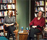 Mystery authors Patricia Skalka and Kathleen Ernst at Boswell Book Company in Milwaukee, WI on November 16, 2016.