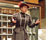 Photo of a costumed interpreter portraying Eva Gay at the Mill City Museum in Mionneapolis, Minnesota.