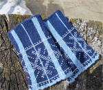 Wrist warmers knitted by Donna Druchunas using a traditional Lithuanian pattern. Photo by Donna Druchunas.