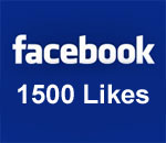 Facebook 1500 Likes graphic.