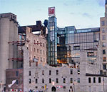 Photo of the Mill City Museum in Minneapolis, MN, taken by Scott Meeker, showing the view of the museum from the Mississippi River bank