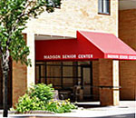 Photo of entrance to the Madison Senior Center, 330 West Mifflin Street, Madison, Wisconsin.