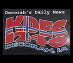 Radio KDEC 1240 AM Decorah Iowa logo.