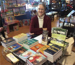 Photo of bestselling author Kathleen Ernst setup for a signing at Martha Merrel's Books in Waukesha, Wisconsin, on November 20, 2016. Photo by Scott Meeker.