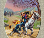 "Partial image of the book cover of ""The Night Riders of Harpers Ferry"" written by Kathleen Ernst, published by White Mane Kids."
