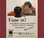 Color copy of a color print ad for the Betty Crocker Gold Medal show on WCCO radio in Minneapolis, MN.