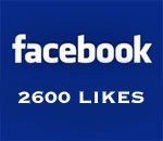 Graphic stating Facebook 2600 Likes. Created by Scott Meeker.