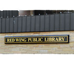 Photo of the street sign of the Red Wing, Minnesota Public Library.