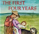Partial image of front cover art by Garth Williams of The First Four Years book written by Laura Ingalls Wilder.