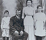 Black and white historic photo of Charles & Molly Boshka family.