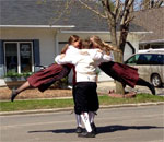 Photo by bestselling author Kathleen Ernst, taken April 16, 2016 of Nordic Dancers in Decorah, Iowa.