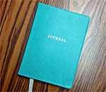 Photo of the Gratitude Journal of bestselling author Kathleen Ernst.