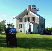 kathleen ernst, pottawatomie lighthouse, docents, photo by kay klubertanz