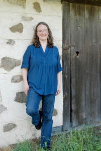 "Photo of Kathleen Ernst, author of ""Old World Murder,"" the first book in the Chloe Ellefson Historic Sites mystery series from publisher Midnight Ink. Taken at Old World Wisconsin by Kay Klubertanz."