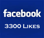 Facebook 3300 Likes graphic by Scott Meeker.