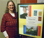 Kathleen Ernst, author of the Chloe Ellefson Historic Sites mystery series, speaking at the Mineral Point WI Public Library, January 24, 2013.
