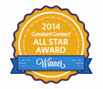 Constant Contact 2014 All Star Email Award Winner logo.