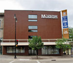 Photo of the Wisconsin State Historical Society Museum, 30 North Carroll Street, in Madison, WI.