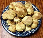Photo of a heaping plate of Old-Time Cinnamon Jumbles cookies.