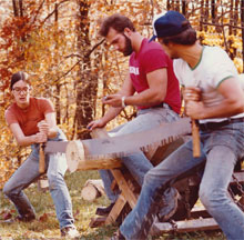 kathleen ernst, jack and jill crosscut saw contest, 1980, west virginai university