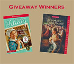 American Girl Revolutionary War mystery books giveaway winners graphic. Created by Scott Meeker.