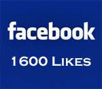Facebook 1600 Likes graphic.