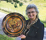 Photo of Turid Helle Fatland, traditional Telemark Rosemaling instructor.