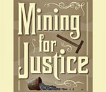 Partial image of the front book cover of the 8th Chloe Ellefson mystery, Mining for Justice, written by bestselling author Kathleen Ernst, from publisher Midnight Ink Books.