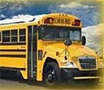 Color photo of a yellow school bus. Photographer unknown.